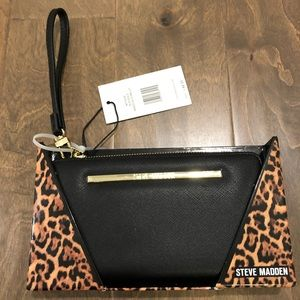 Steve Madden Black with Gold Wallet New in Box